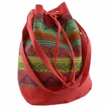 Rood mochila schoudertasje 30 cm voor meisjes/dames