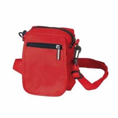 Rood schoudertasje 15 cm