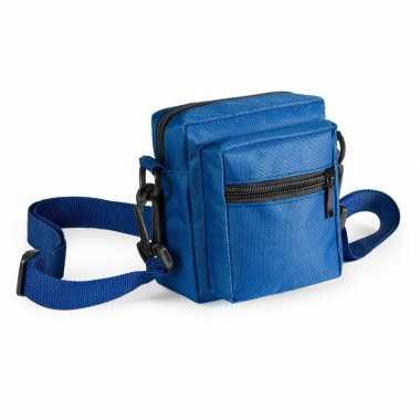 Toppers - mini schoudertasje blauw 11 cm