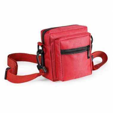 Toppers - mini schoudertasje rood 11 cm